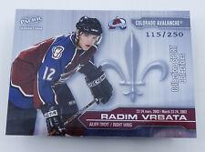 Radim Vrbata #4 Hockey Card French English Serialized 115/250 March 23-24 2002