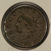 1838 1c Coronet Head Large Cent - Mid-Grade Coin - SKU-Y2589
