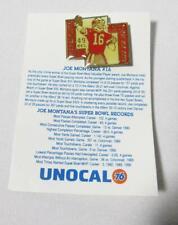 San Francisco 49ers Joe Montana #16 Super Bowl MVP 1991 Lapel Hat Pin Unocal 76