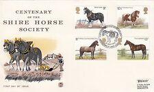 (90715) GB Stuart FDC CAVALLI-Shetland Pony registro genealogico haroldswick 5 luglio 1978