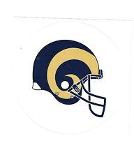 NFL NFC ST. LOUIS RAMS Football LG Helmet Round Sticker