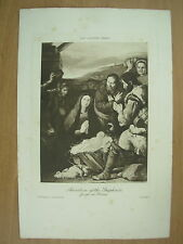 Antico Mansell teddington Print Adorazione dei pastori di Jusepe de Ribera