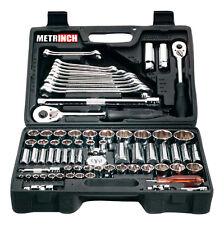 "METRINCH MET-0076 Combination set 76pcs Ratchet Box 1/2"" 3/8"" 1/4"" Wrench Socket"