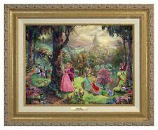 Thomas Kinkade Sleeping Beauty 12 x 16 Canvas Classic (Gold Frame)