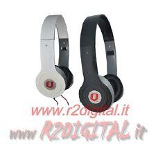 CUFFIE M PROFESSIONALI per DJ HI-FI PC GAME MP4 MP3 IPOD IPHONE STEREO JACK 3,5m