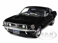 1968 FORD MUSTANG GT 2+2 FASTBACK BLACK 1/18 DIECAST MODEL CAR GREENLIGHT 12843