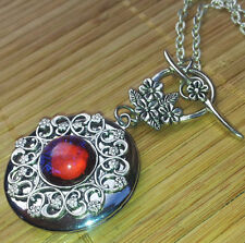 Mexican Opal Locket - dragon breath fire Daenerys gothic game of thrones silver