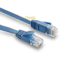 20m flat Cat6 Ethernet Lan Patch Kabel flache Ausführung Gigabit RJ45 blau