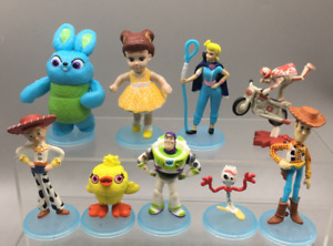 9pcs Disney Toy Story Play Action Figure Buzz Light Year Woody Party Cake Topper