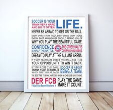 """Bayern Munich """"Soccer Is Your Life"""" Manifesto Poster, 16"""" x 20"""""""