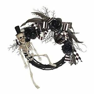 Halloween Wreath, Front Door Wreath 15 Inches, Halloween Door Decoration