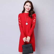 Autumn winter Korean fashion shitsuke Bud silk cashmere knitting sweater dress