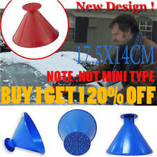 2 in 1 Car Windshield Ice Scraper Tool Cone Shaped Outdoor Funnel Remover Snow