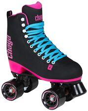 New! Chaya Melrose Black & Pink Quad Indoor / Outdoor Roller Skates