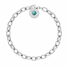 NEW Thomas Sabo Sterling Silver Belcher Bracelet Turquoise Charm Club Collection