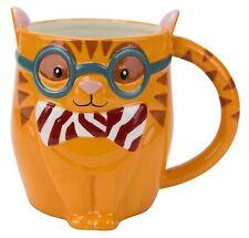 Boston Warehouse Earthenware Smarty Cat Mug, 18 Oz.