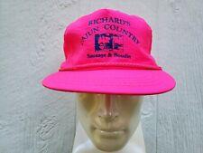 1980's Vintage Cajun Baseball Hat Cap Louisiana Boudin Sausage Pink Church Point