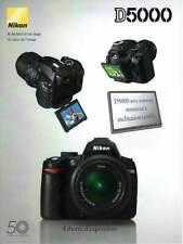 NIKON brochure pub. D5000 édition 04/2009 en français