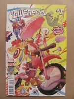 Unbelievable Gwenpool #1 Marvel 2016 Series 2nd Print Variant 9.6 Near Mint+