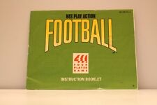 NES Game Manual ONLY for NES Play Action Football Nintendo Entertainment System