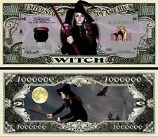 La SORCIERE BILLET MILLION DOLLAR US! Witch Halloween Monstre Horreur Magie Sort