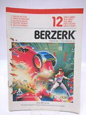 Anleitung - Handbuch - Bedienungsanleitung Atari - Berzerk