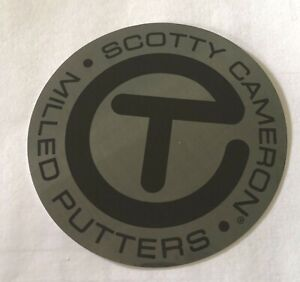 """New SCOTTY CAMERON GALLERY 2021 US Open Sticker Large Circle T 3"""" Golf Gray Blk"""