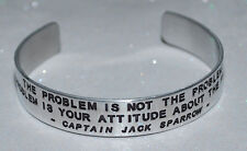 Quote By: ~ Captain Jack Sparrow ~ / Engraved, Hand Polished Bracelet,Gift Bag