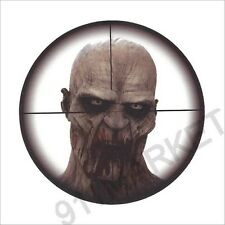 Zombie Undead Cross Hairs Decal Car Truck Sticker Rapid Response Team Apocalypse