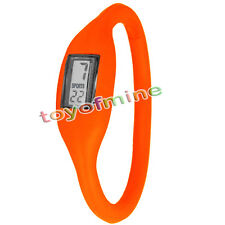 Silicone Orange Nouveau mode Sport négatif Montre Unise Wholesalex