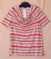 Samoon Shirt Gerry Weber Longstyle Wasserfall Viskose Damenshirt Neu Damen Gr.54