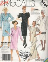 Pattern McCalls Woman Vintage c1987  Dress Tunic Skirt Sz 14 NEW OOP