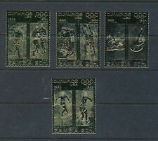 Zambia 1984 Olympic Gold Stamps MNH