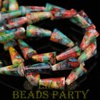 New 10pcs 15x8mm Pagoda Faceted Crystal Glass Pendant Loose Beads Colorful