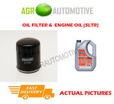 PETROL OIL FILTER + FS 5W40 ENGINE OIL FOR ALFA ROMEO 145 1.8 140 BHP 1996-98