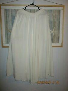 Tienda Ho S6 Ivory Color Moroccan Cotton Skirt New with tags