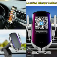 Car Locating Qi Wireless Fast Charger Automatic Sensor Phone Holder Mount Clamp