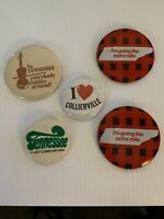 Tenneessee Vintage State Pinback Buttons Lot Of 5 Rare