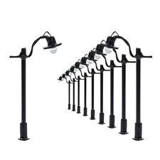 L004 10pcs Model Railway Lamppost lamp HO N 4cm 12v