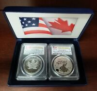 2019-W Pride of Two Nations 2pc Attached Set PCGS PR70 First Strike Flags Label