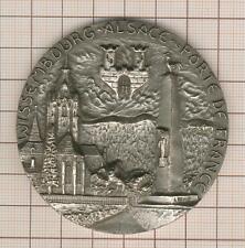 grande médaille uniface argent 1er titre  176g !   Wissembourg Alsace
