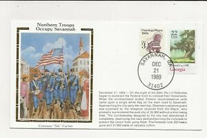 US Army Comm/FDC -  Civil War - Northern Troops Occupy Savannah - 1989 (087)Z