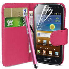 PINK WALLET FLIP CASE POUCH PU LEATHER COVER FOR SAMSUNG GT-I9000 GALAXY S