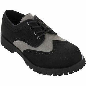 Boots & Braces Herren Budapester Vegetarian Suede schwarz grau Vegi Halbschuhe