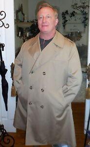 Misty Harbor Double Breasted Trench/Rain Coat 44 SHORT Executive Khaki Overcoat