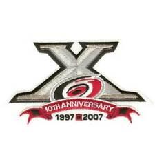 2008 Carolina Hurricanes 10th Anniversary NHL Season Sleeve Jersey Patch