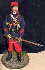 1/6 Figurine infanterie française 1914 custom + décors - caporal clairon