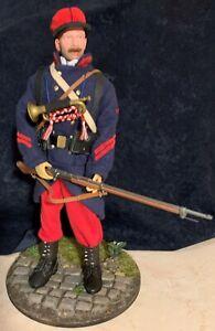 1/6 Figurine fantassin français 1914 custom + décors - caporal clairon