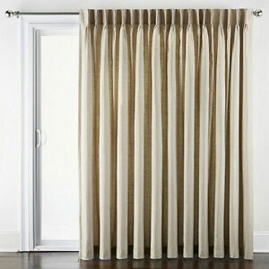 JCPenney Supreme Thermal Pinch-Pleat Back Tab Linen Patio Curtain Panel 100 x 84