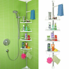 Telescoping Shelf Corner with 4 Racks Bathroom Shower